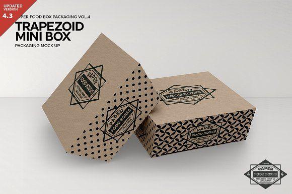 Download Trapezoid Mini Boxes Mockup Box Mockup Mockup Free Psd Free Packaging Mockup