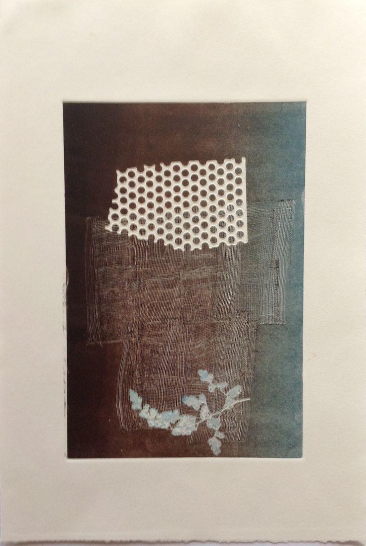 Nino Bellantonio. Untitled (Kimono): Monoprint on Stonehenge paper. Image size 12.5cm x 19cm. SOLD