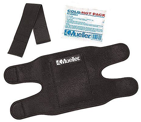 """Mueller Reusable Cold/Hot Therapy Wrap - Large w/ 1 - 6"""" x 9""""Large pack # 330122 by Mueller Sports Medicine. Save 25 Off!. $17.22. Reusable Cold/Hot Therapy Wrap Ideal for the application of cold or hot therapy to small or large body parts. Adjustable side flaps and a detachable extension strap help secure the therapy wrap in place. Small wrap holds one 4.75"""" x 6"""" Reusable Cold/Hot pack. Large wrap holds one 6"""" x 9"""" Reusable Cold/Hot pack. 330122 LG (with one regular Cold/Hot pack)"""