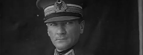 """TURKEY: MIL COMMANDER, POL: Mustafa Kemal Atatürk. Army officer, revolutionary, and 1st President of Turkey. Credited with being the founder of the Republic of Turkey. His surname, Atatürk (meaning """"Father of the Turks""""), was granted to him in 1934 and forbidden to any other person by Turkish law. Sought to transform the former Ottoman Empire into a modern and secular nation-state. The principles of Atatürk's reforms, upon which modern Turkey was established, are referred to as Kemalism."""