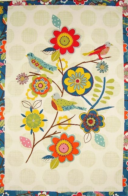 Scandinavian Folk Art ~ birds and flowers! I'm sorry I can't find the artist to credit - will try to track her/him down