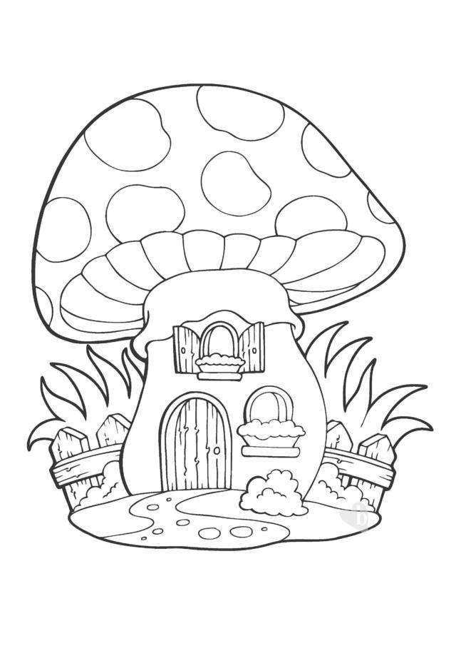 La Casa Fungo Stampa Il Disegno Da Colorare E Gioca Con Il Tuo