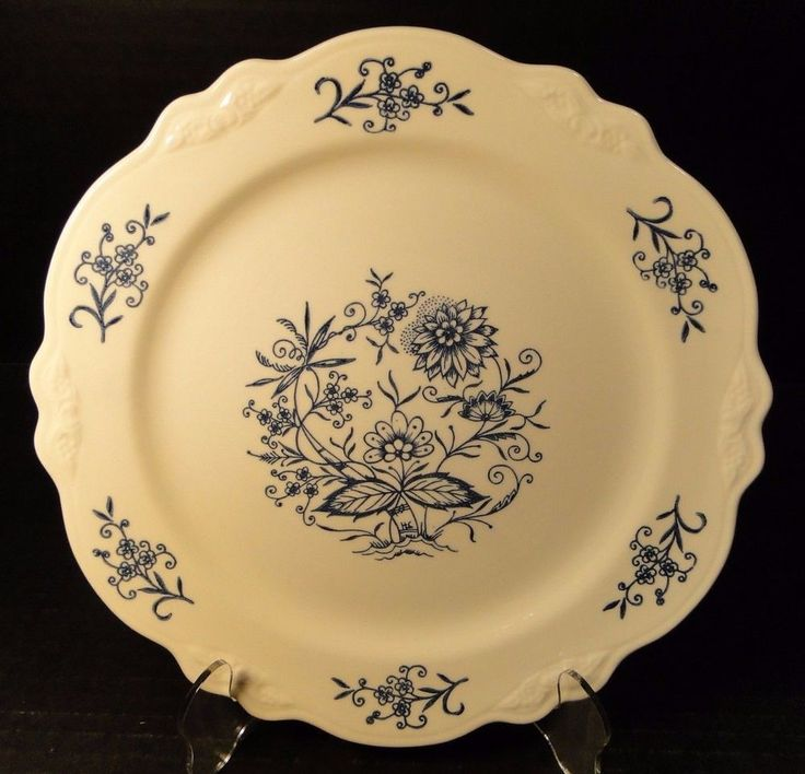 """Homer Laughlin Virginia Rose Dresden Imperial Blue Dinner Plate 10"""" EXCELLENT! #HomerLaughlin"""