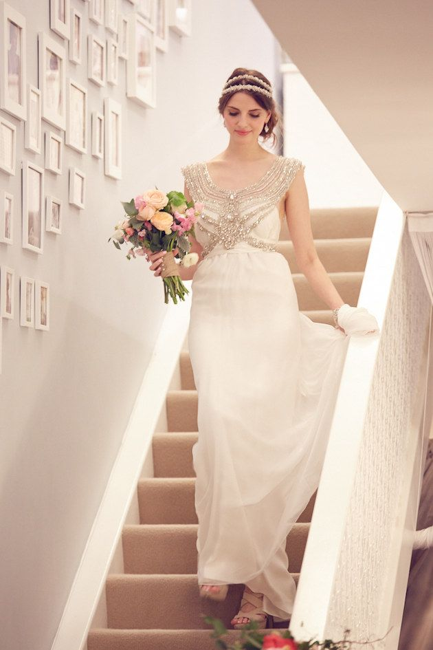 Here comes the bride, all dressed in....sparkling, shimmering Anna Campbell