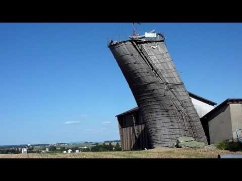70 ft Silo Destruction at Jim's - YouTube