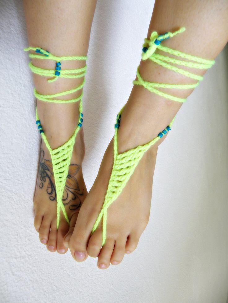 A piedi nudi NEON sandalo sandali a piedi nudi hippie sandali a piedi nudi giallo sexy cavigliera gioielli piede infradito senza fondo scarpe estive di ZAPrix su Etsy https://www.etsy.com/it/listing/198492807/a-piedi-nudi-neon-sandalo-sandali-a