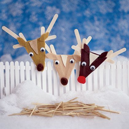 Rudolph and Co. Holiday Ornaments   Easy Crafts for Kids -- Quick Arts and Craft Ideas -- Kids' Crafts   FamilyFun