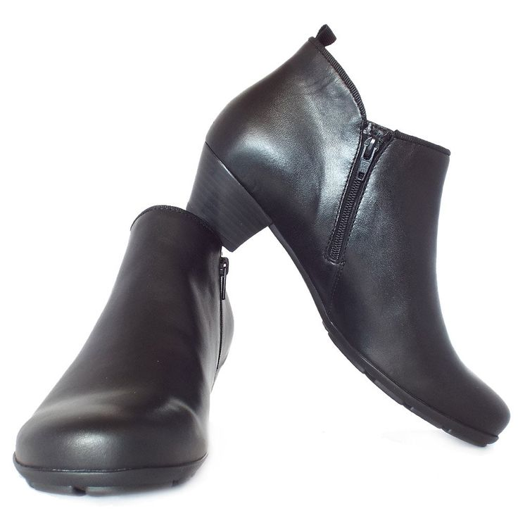 Black Leather Ankle Boots | Gabor Ankle Boots | Trudy Ladies Black Leather Ankle Boots | Mozimo