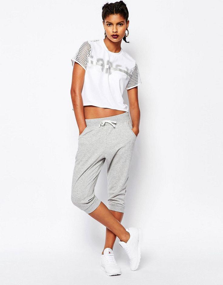 Reebok+Sweatpants+With+Drawstring+Waist