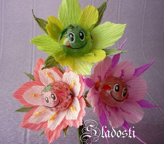 crepe papir blomster