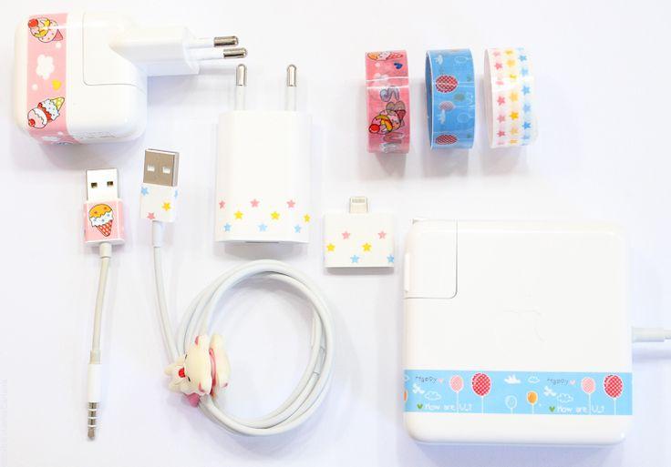 DIY rápido fita adesiva durex cabo de celular borboletas na carteira-2