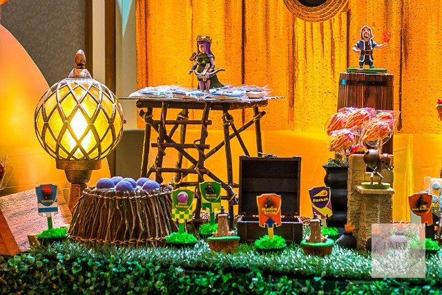 Jaden's Clash of Clans Themed Party -1st Birthday - Party Doll Manila