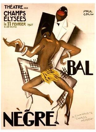 "1927 Poster Josephine Baker African-American jazz ""Bal Negre"""