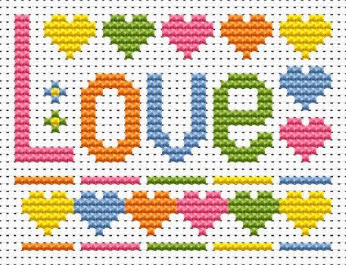 Sew Simple Love Word cross stitch kit