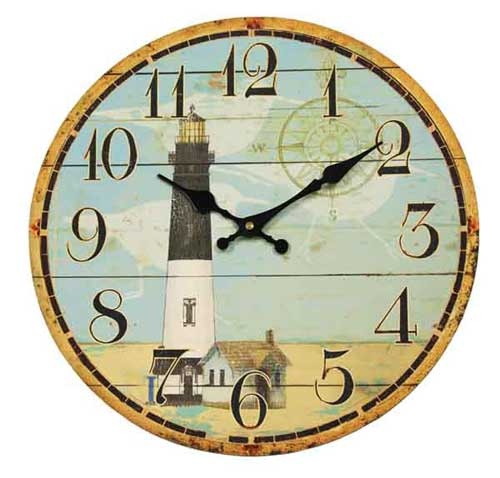 Clock - Compass Lighthouse $15