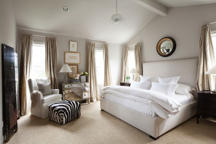Beautiful neutral bedroom Ashley Goforth