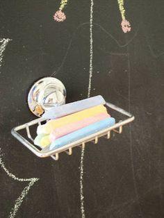 Image result for chalkboard wall chalk holder