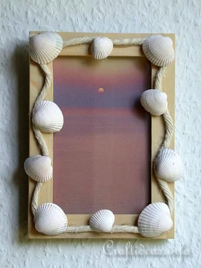 Seashell Craft - Seashell Picture Frame. This one is so easy to make!