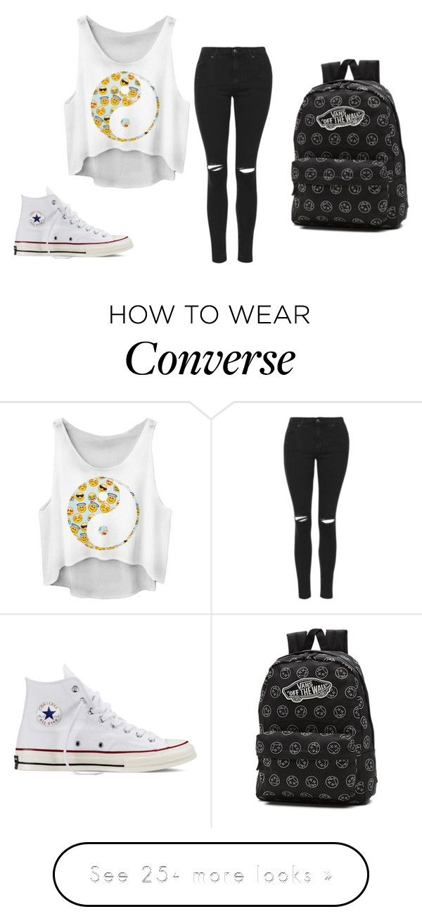 """Sans titre #201"" by amal-stylesmalik on Polyvore featuring Topshop, Converse and Vans"