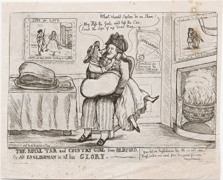 The royal tar and country girl from Oldford, or, An Englishman in all his glory Dent, W., fl. 1783-1793, printmaker. [London] : Pubd. by W. Dent, Oct. 25th 1791. Lewis Walpole Library Digital Collection