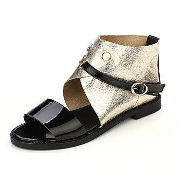 vrouwen platte hak open teen sandalen met gesp schoenen (meer kleuren) – EUR € 34.99