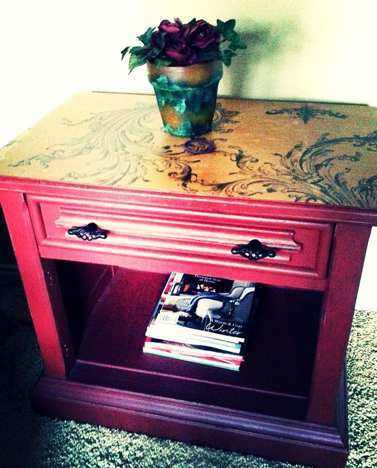 My first painted furniture piece completed at Dumpster Diva's Workshop