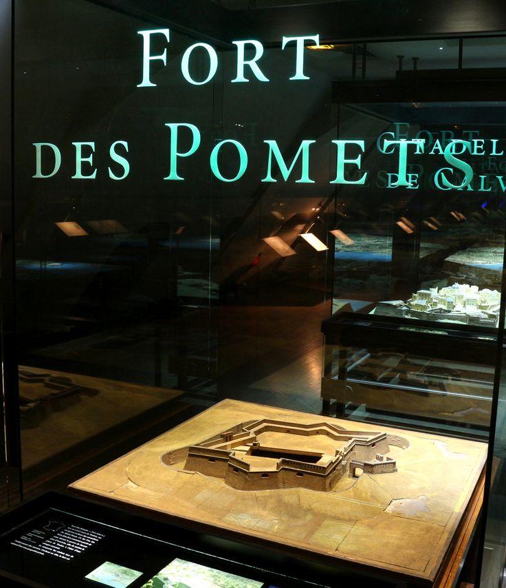 Plan-relief du Fort des Pomets, près de Toulon, réalisé vers 1750. Photo : (c) Musée des Plans-reliefs / G. Froger