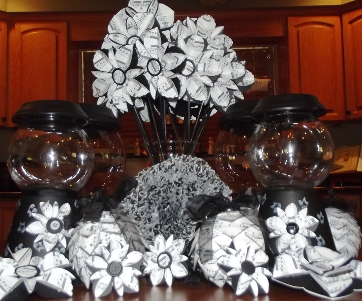 Best images about band banquet centerpieces on