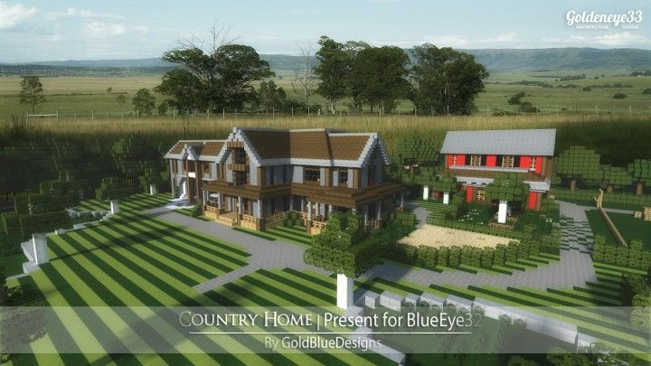 Country home ranch house farm minecraft building ideas 2 for Country craft house
