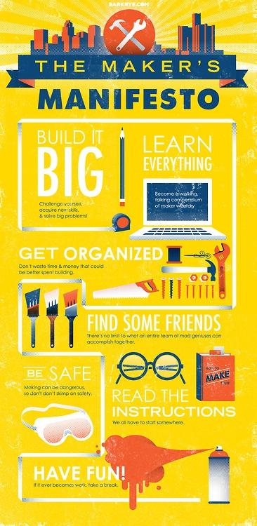 Make something this summer! The Maker's Manifesto from Dark Rye's Detroit issue #infographic