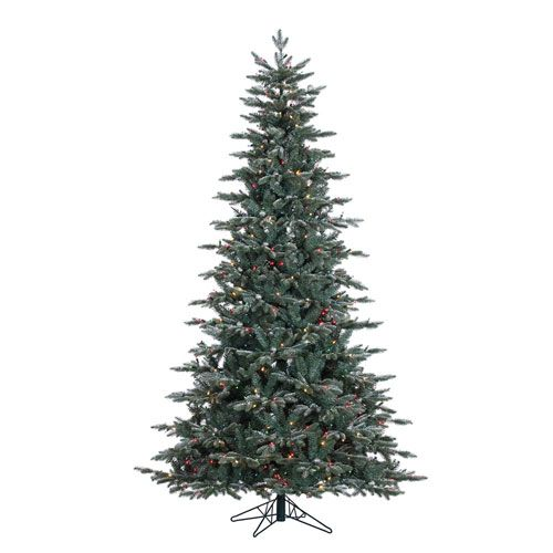 Green 7.5 Foot Crystal Balsam Christmas Tree with 750 Multicolor Lights