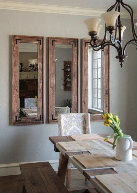 Mirrors are much more than a mere object of vanity. They are also fantastically versatile and are perfect for empty walls.