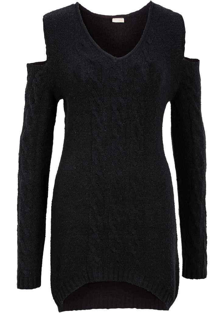 Pullover con aperture Nero - BODYFLIRT boutique è ordinabile nello shop on-line di bonprix.it da ? 19,99. Le spalle al centro dell'attenzione! Pullover ...