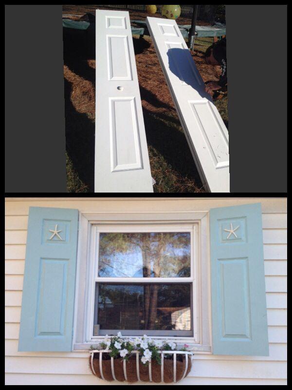 Repurposed Bifold Closet Doors Into Shutters Even Left