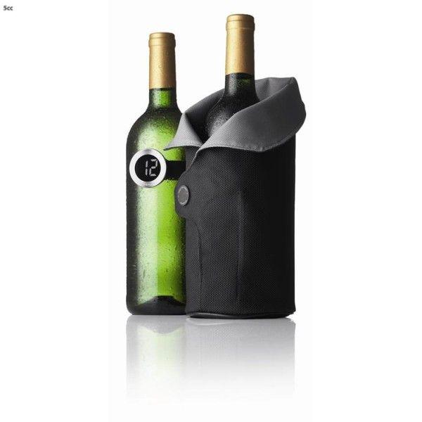 Menu Wijnkoeler Cool Coat Zwart Met Wijnthermometer | Wijnkoelers