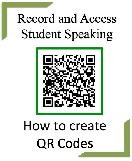 Using QR Codes to Record and Access Student Speaking