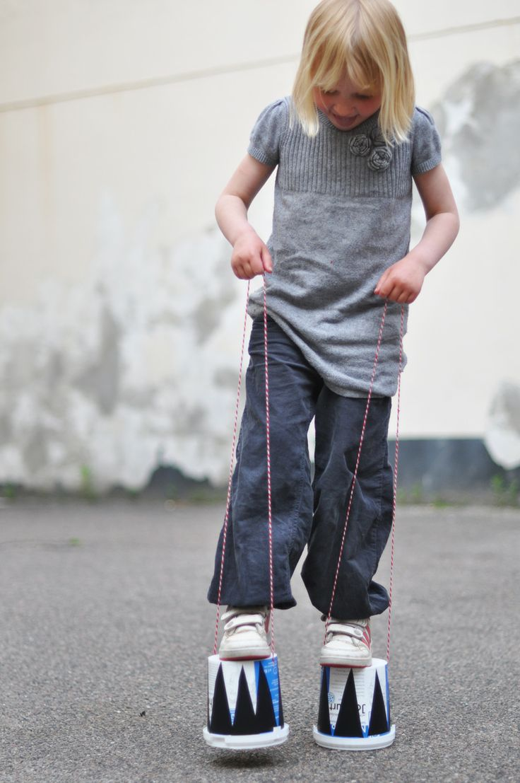 how to make stilts out of crutches
