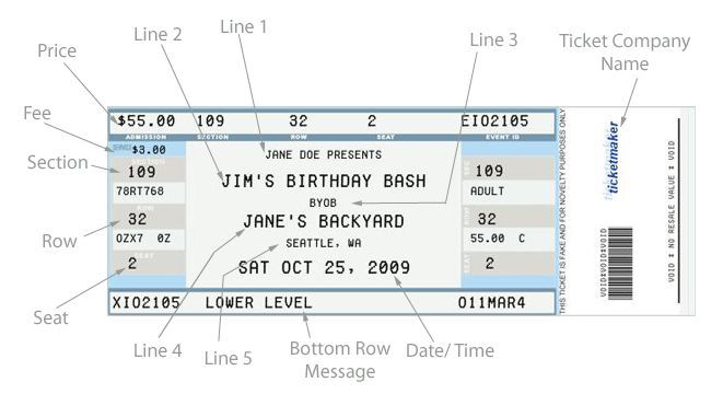 Fake Ticket Generator This is a free site that is user friendly.
