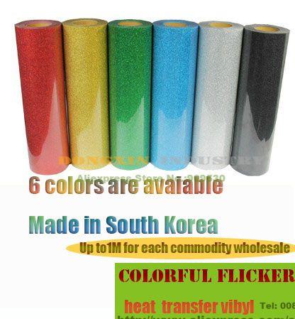 $74.00 (Buy here: https://alitems.com/g/1e8d114494ebda23ff8b16525dc3e8/?i=5&ulp=https%3A%2F%2Fwww.aliexpress.com%2Fitem%2FColorful-Flicker-Glitter-Heat-Transfer-Film-T-shirt-heat-transfer-vibyl-Cutting-Plotter-Film-Made-in%2F32248182326.html ) Colorful Flicker Glitter Heat Transfer Film T shirt heat transfer vibyl Cutting Plotter Film Made in South Korea for just $74.00
