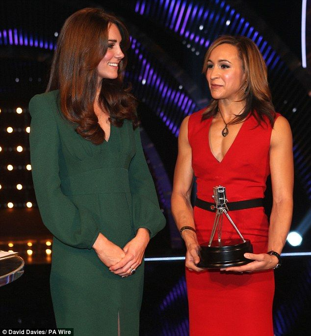 12/16/12 -'Move over Pippa': Jessica Ennis' derriere gets the attention at BBC Sports Personality of the Year Awards as she leads glamour in ravishing red frock