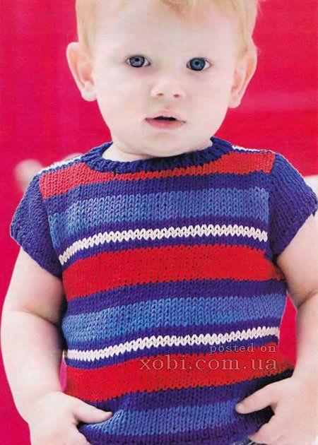 футболка для мальчика вязаная спицами