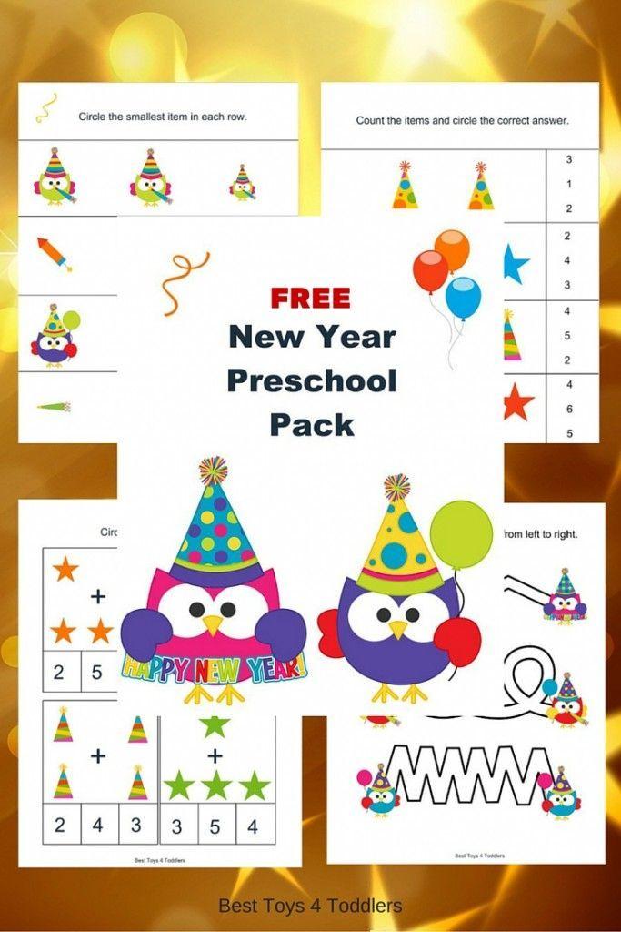 Free New Year Printable Pack For Preschoolers
