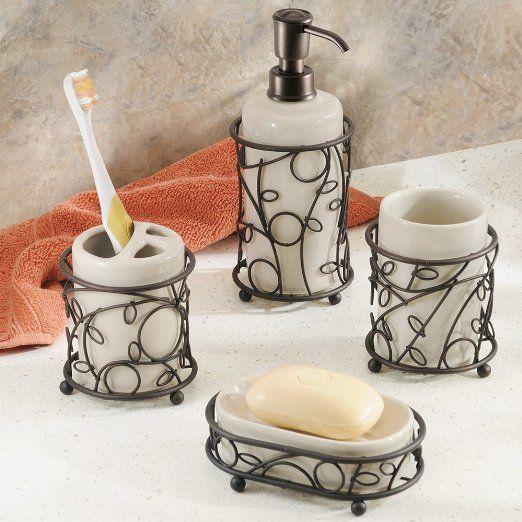 Amazon com   InterDesign Twigz Bath Collection  Vanilla Bronze  4 Piece   Bathroom  Accessories SetsBathroom  48 best Bathroom Accessory Sets images on Pinterest   Bathroom  . Bathroom Countertop Accessories Sets. Home Design Ideas