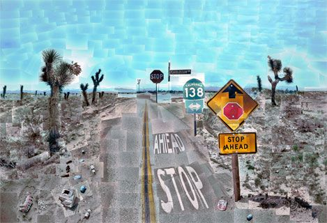 David Hockney - what the driver sees vs. the passenger