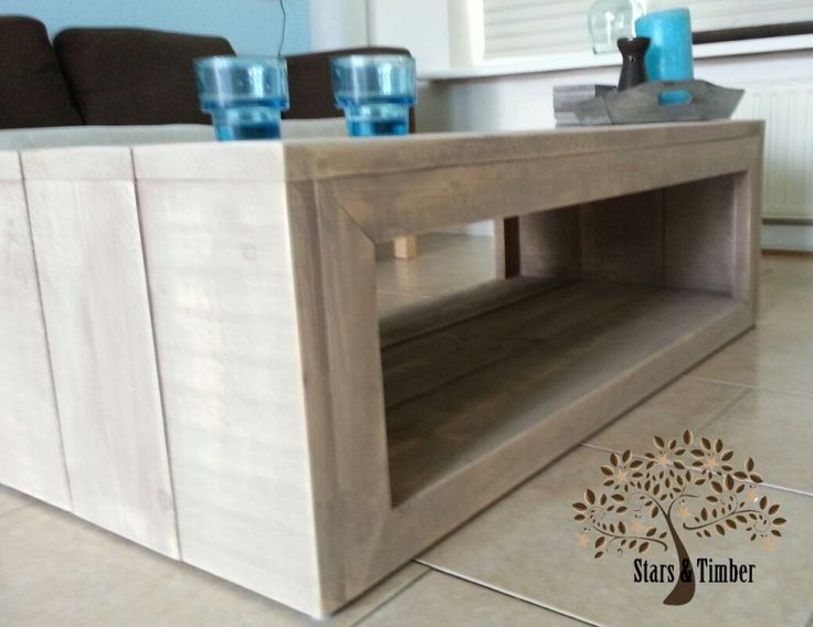 Steigerhouten salontafel 120 x 40 x 60 cm