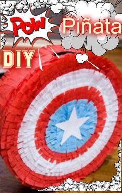 DIY Piñata del Capitan America