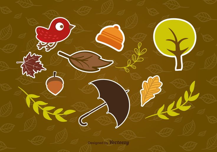 Free vector Autumn stickers #12938