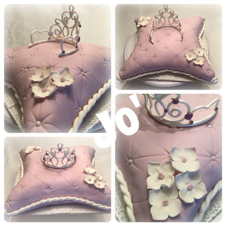 Princes cake , pillow cake fondant cake , cake design