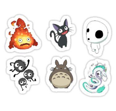 Studio Ghibli, Sticker, set • Also buy this artwork on stickers.
