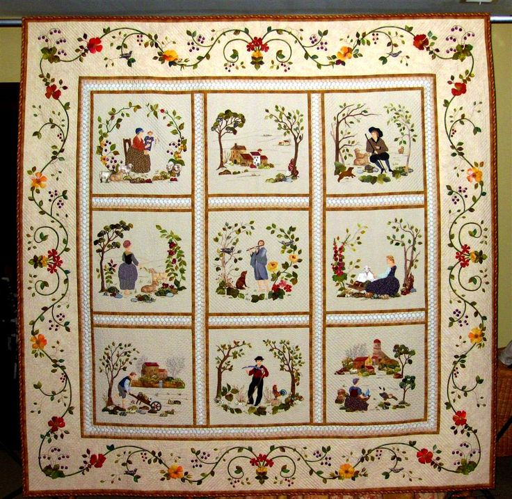 """Baltimore in Provence"" by Ellen Heck, 2012 Road to California Quilt Show Masterpiece Prize. Posted by Margaret Mathews"